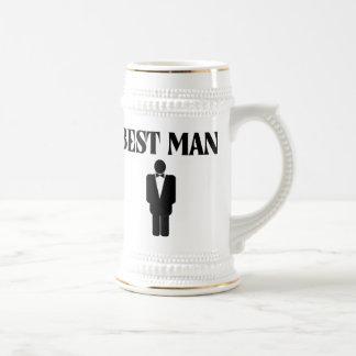 Best Man Wedding Beer Stein