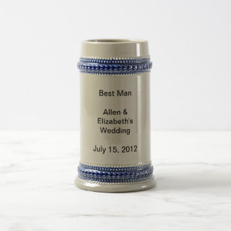 Best Man Wedding Favor Beer Stein