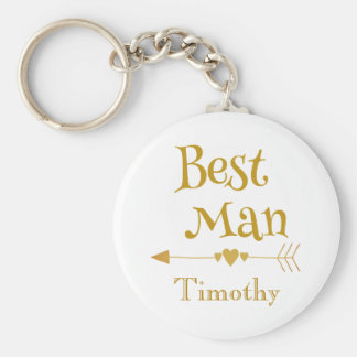 Best man wedding remembrance key ring