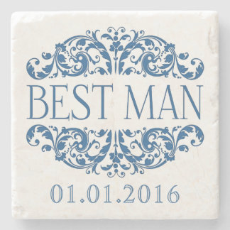 Best man wedding stone coasters Save the Date