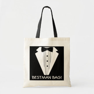 Best Man Wedding Tuxedo Budget Tote Bag