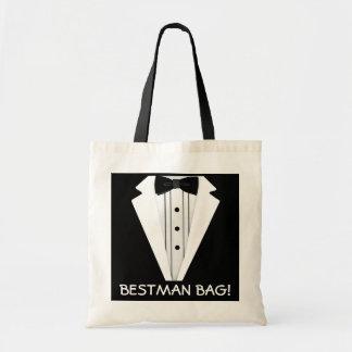 Best Man-Wedding-Tuxedo Canvas Bag