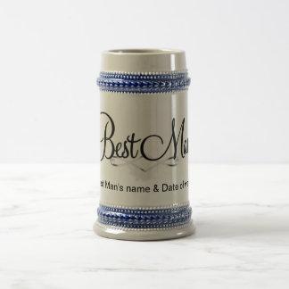 Best Man's Gift Bridal Party Beer Stein