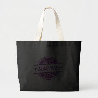 Best Marine Ever Purple Canvas Bags