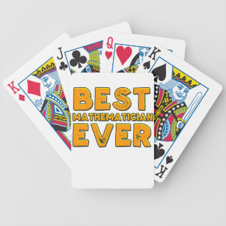 Best mathematician ever bicycle playing cards