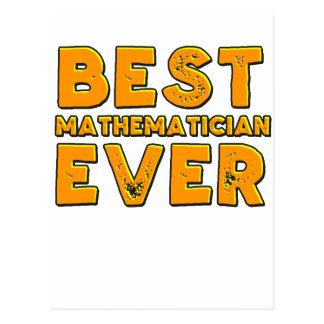 Best mathematician ever postcard