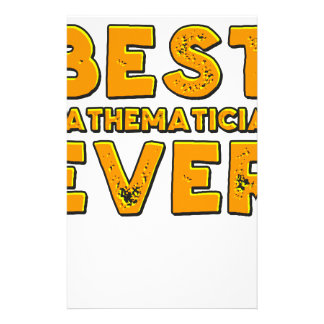 Best mathematician ever stationery
