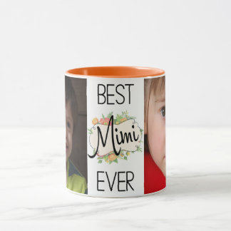 Best Mimi Ever Custom Photos Mug