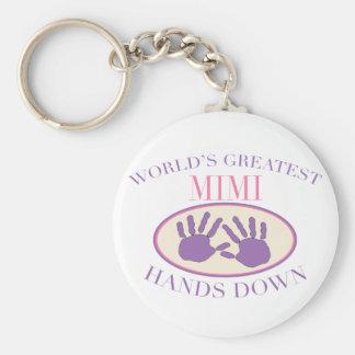 Best Mimi Hands Down T-shirt Basic Round Button Key Ring