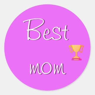 Best Mom Emoji Round Sticker