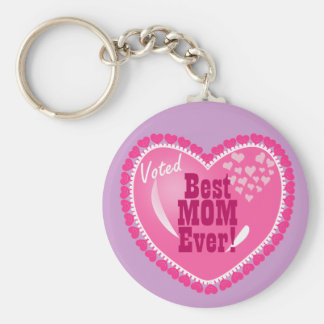 Best Mom EVER! Basic Round Button Key Ring