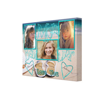 Best Mom Ever | Beach | Personalized Canvas Print