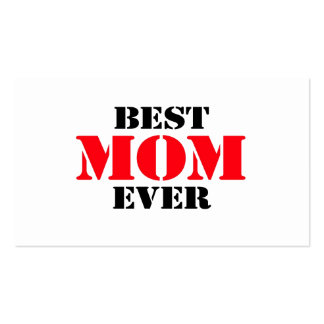 Best Mom Ever Business Card Templates