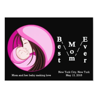 'Best Mom Ever' card 13 Cm X 18 Cm Invitation Card