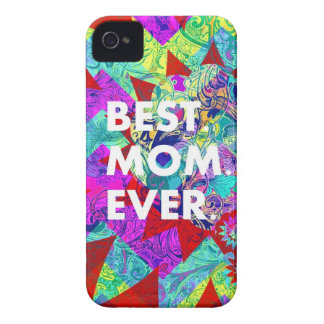 BEST MOM EVER Colorful Floral Mothers Day Gifts iPhone 4 Case-Mate Case