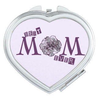 """""""Best Mom Ever"""" Cute Design Mirror For Makeup"""