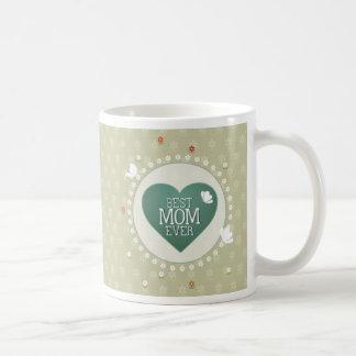 Best Mom Ever Floral Mug