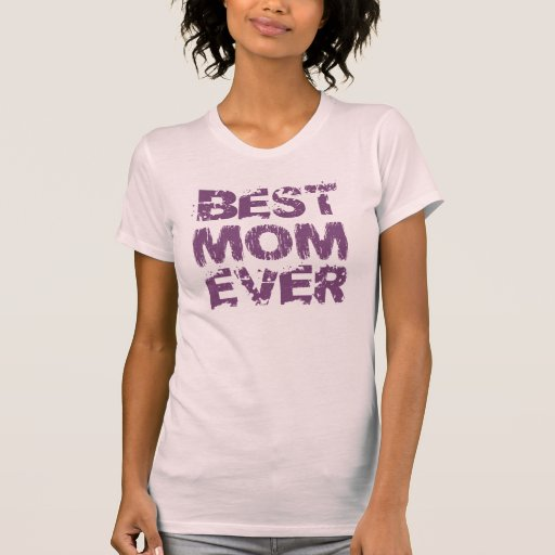 BEST MOM EVER Grunge Text M03 PURPLE PINK T-shirt