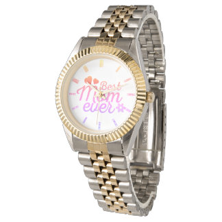 Best Mom Ever Hearts and Flower Watch