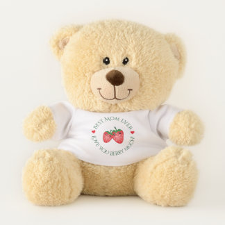 Best Mom Ever Love You Berry Much Lovely Cute Teddy Bear