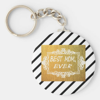 Best Mom Ever Mother's day Gold gift Key Ring