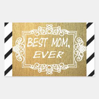 Best Mom Ever Mother's day Gold gift Rectangular Sticker