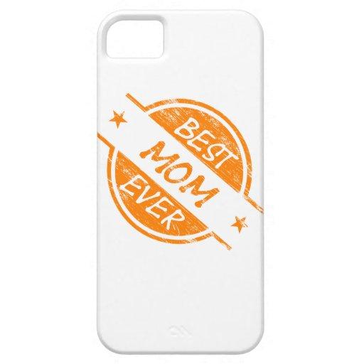 Best Mom Ever Orange iPhone 5/5S Cases