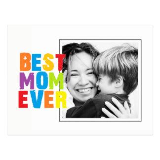 Best Mom Ever  photo card Postcard