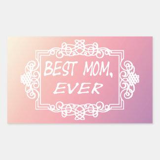 Best Mom Ever Pink Pastel mother's day gift Rectangular Sticker