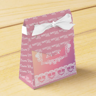 Best Mom Ever Pink Pastel mother's day gift Wedding Favour Box
