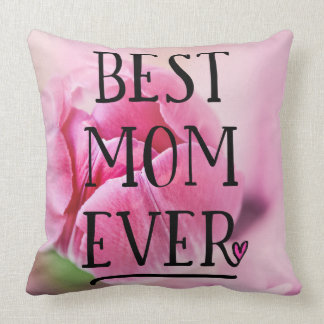 Best Mom Ever Pink Tulip Cushion