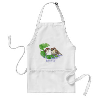 Best Mom Ever Sparrow, Cute Bird Family Standard Apron