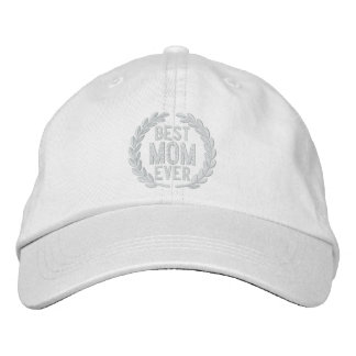 Best Mom Ever SuperMom Laurels Embroidery Baseball Cap