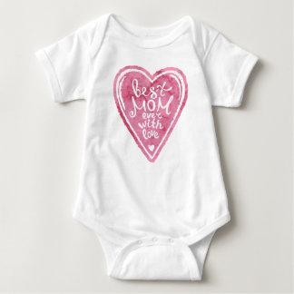 Best mom ever with love - Baby Bodysuit
