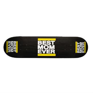 Best Mom Ever Yellow Custom Skateboard
