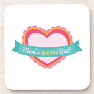 Best Mom Heart Beverage Coaster