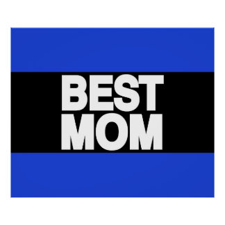 Best Mom Lg Blue Posters