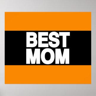 Best Mom Lg Orange Poster