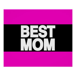 Best Mom Lg Pink Posters