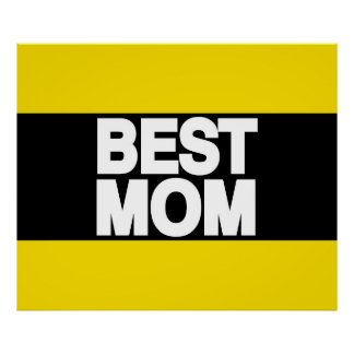 Best Mom Lg Yellow Poster
