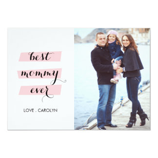 Best Mommy Ever Mother's day Card 13 Cm X 18 Cm Invitation Card