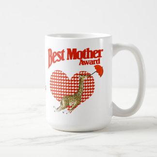 Best Mother Award Keepsake Basic White Mug