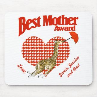Best Mother Award Keepsake Mouse Pad