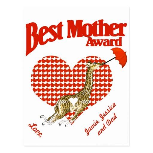 Best Mother Award Keepsake Postcard