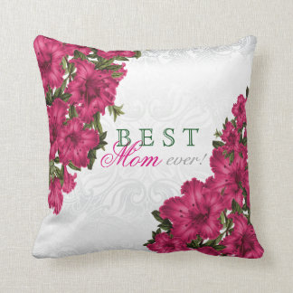 Best Mother Ever Pink Lily Flowers Cushion