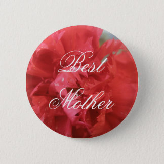 Best Mother Red Carnation Pin Button