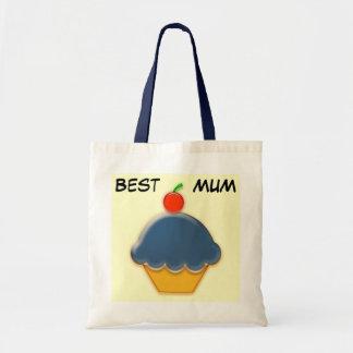Best Mum, Blueberry Cupcake Art Bag