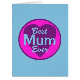 Best Mum Ever Big Greeting Card