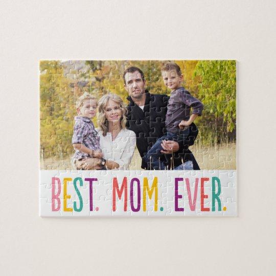 Best Mum Ever Custom Photo Puzzle