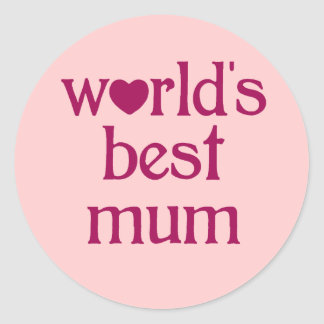 Best Mum Round Sticker